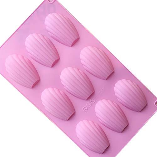 Dosige Moule à madeleines en silicone 9 espaces Pour fondant, pâte de sucre 29,3 x 17 x 1,5 cm