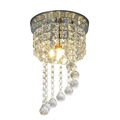 LED Deckenleuchte Kristall, Deckenlampe LED, Wohnzimmer-lampe, Deckenstrahler, Höhe 34cm, Kronleuchter Kristallfür Schlafzimmer Wohnzimmer Gang, E27, Lampe nicht Enthalten
