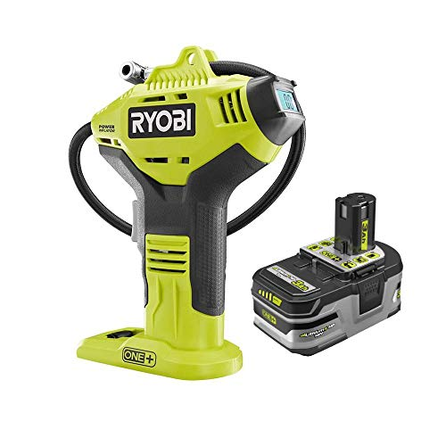 Ryobi P737D 18-Volt ONE+ Cordless High Pressure Inflator with Digital Gauge & 3.0 Ah 18-Volt LITHIUM+ HP High Capacity Battery (Bulk Packaged)