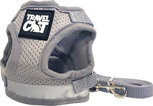 Travel Cat: The True Adventurer - Reflective Cat and Kitten Harness and Leash Set for Walking - Lightweight, Breathable, Snug Fit - Strong Leash with Sturdy Snap Clip