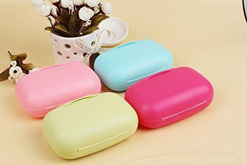 Lyuboov 1pcs Plastic Soap Case Porte-boîte Conteneur pour Les Voyages en Plein air Utilisation à la Maison (Rose Red)