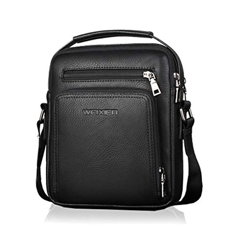 Vohoney Herren-Schultertaschen Umhängetasche Herrentasche Klein Crossbody Bag Handtasche Tasche UmhängenMessenger Bag Handgelenktasche Shoulder Bag(Schwarz Herren PU Schultertasche)