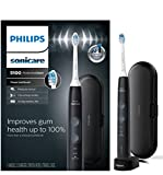 Philips Sonicare ProtectiveClean 5100 Gum Health, Rechargeable electric toothbrush with pressure sensor, Black HX6850/60, 1 Count