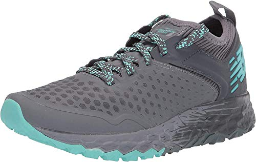 New Balance Women's Fresh Foam Hierro V4 Trail Running Shoe, Lead/Gunmetal/Light Tidepool, 10 B US