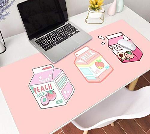 Gaming Mouse pad Milk Pink Strawberry Peach Kawaii Mouse Pad XXL Mouse Pad Laptop Desk Pad Pc Gamer Mouse Pad D