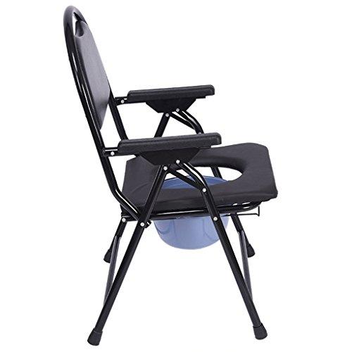 Decorative frame-w GYP Schwarzer Klappstuhl, WC-Sitz Erwachsene Behinderte ältere faltbare WC-Sitz WC Stuhl Bad Stuhl - geeignet für die meisten Menschen mit schlechter Mobilität (größe : 57*52*90cm)
