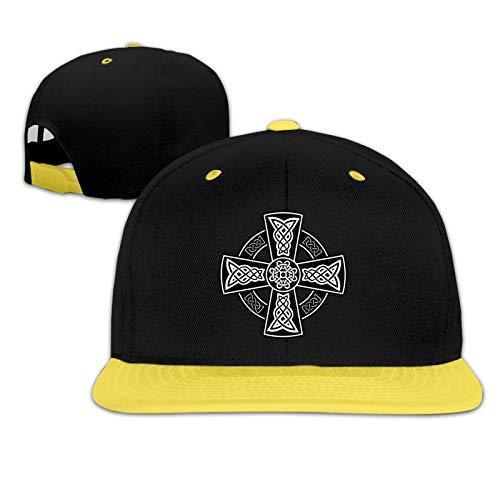 Celtic Cross Knot Irish Hiphop Baseball Hat Adjustable Children's Peak Cap Yellow