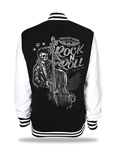 Unisex Sweat College Jacke - Rockabilly Varsity Jacket Rock N Roll