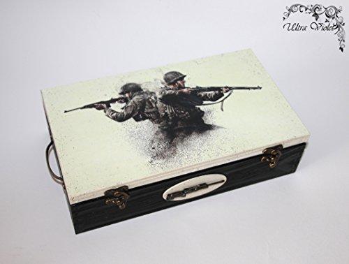 Call of Duty WW2 Exklusive Teebox ,Tee, Tea, Teebeutel ,Teekiste , Holzbox, Schachteln, wood, Holzkästchen, Handarbeit.