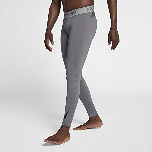 Nike Herren Pro Therma Tights, Gunsmoke/Atmosphere Grey/Black, S
