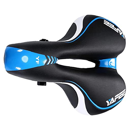 NiceCore Asiento Bicicleta Silla Cubierta de Gel Suave Acolchado del Amortiguador Transpirable para MTB de Aluminio de Ciclo Hombres Mujeres Azul