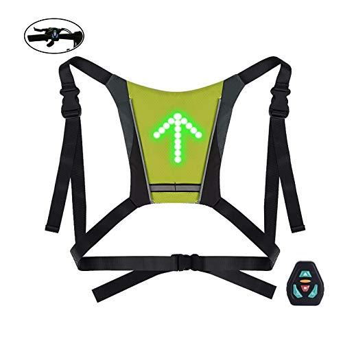 Topnaca LED Reflektierende Weste für erhöhte Sichtbarkeit & Sicherheit, Fahrradweste USB mit 4 Modus Richtungsanzeige, für FahrradLäufer, Jogger, Arbeit, Erwachsene, Kinder