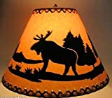 16 Inch Moose Rustic Lamp Shade.Click On Photos to View Sizing and Style Options