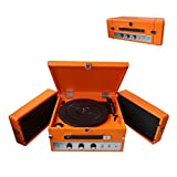 Pyle Bluetooth Suitcase Record Player - Updated Version Portable W/ 3-Speed Turntable with Radio,...
