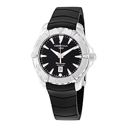 Certina DS Action C032.251.17.051.00 - Reloj de pulsera para mujer, esfera de goma, color negro