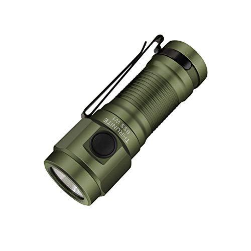 THRUNITE BSS W1 EDC Taschenlampe mit magnetischer Endkappe, 693 hohe Lumen Schlüsselanhänger Taschenlampe mit 16340 650 mAh Akku im Lieferumfang enthalten – Grün CW