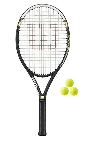 Wilson Hyper Hammer 5.3 Tennisschläger + 3 Bälle