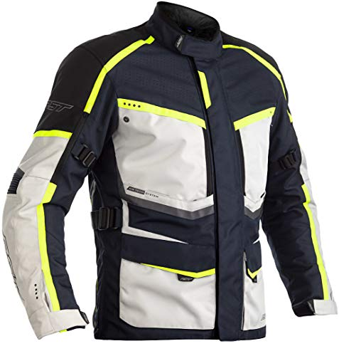 RST Maverick Motorrad Textiljacke Schwarz/Neon 62
