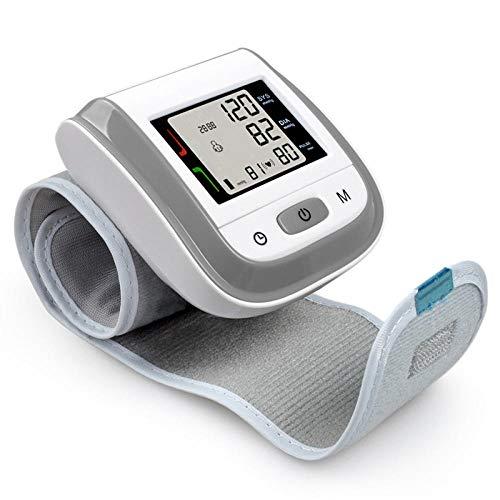 HJUNH Handgelenk-Blutdruckmessgerät Vollautomatische Professionelle Pulsmessung Vollautomatisches, Nicht sprechendes digitales Blutdruckmessgerät mit Pulserkennung, grau