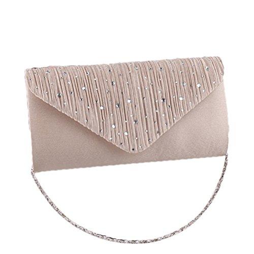 OULII Frauen Mode Handtasche Diamant gekachelt Abendessen Tasche Sholder Clutch Bag Abendtasche...