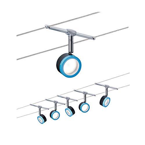 3982 Wire System BlueLED 5x4W Weiß/Chrom matt 230/12V Seilleuchte Seillampe Deckenleuchte Deckenbeleuchtung LED