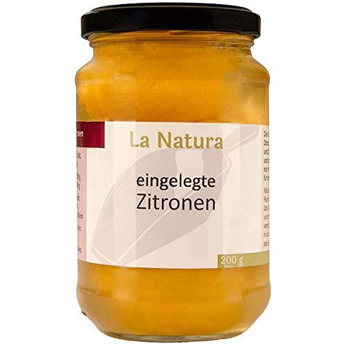 Marokkanische eingelegte Salzzitronen Zitronen 200g Glas von La Natura * Original aus Marokko * Feinschmecker Tajine