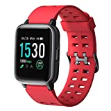 YAMAY Smart Watch,Fitness Trackers Touch Screen Smartwatch Waterproof IP68 Fitness Watch with Heart