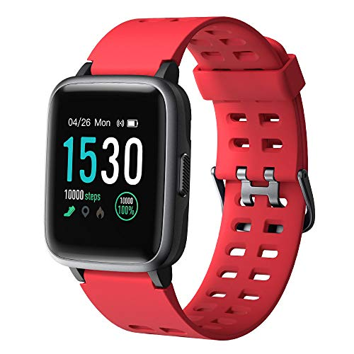 YAMAY Smart Watch, fitness tracker, touch screen, impermeabile IP68, orologio fitness con cardiofrequenzimetro, contapassi, monitoraggio del sonno, cronometro, unisex, per iPhone e telefoni Android.