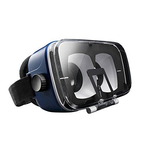 エレコム 3D VR ゴーグル ヘッドマウント用 目幅調節 ピント調節 AR対応 ブルー P-VRG03BU