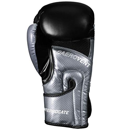 Title Boxing Infused Foam Interrogate Training Gloves 2.0, Silver/Black, 20 oz