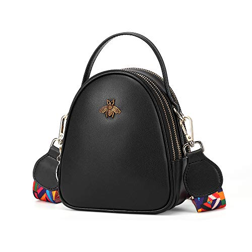 BISON DENIM Leichte kleine Umhängetaschen Umhängetasche für Frauen stilvolle Damen Handy Geldbörse und Handtaschen Brieftasche