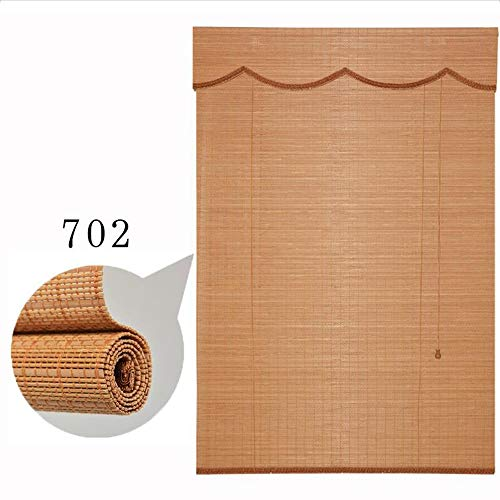 Jcnfa-rolgordijnen jaloezieën bamboe rolluiken, blackout sun blind vroege raamdecoraties, roller schaduw voorjaar rolgordijn 80% UV-bescherming