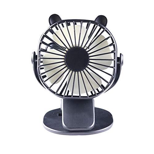 Camidy Ventilador de Escritorio con Clip Rotación de Ventiladores de Escritorio Eléctricos Personales Recargable USB 3 Ventilador de Refrigeración de Velocidad del Viento para La Oficina