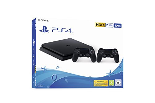 PlayStation 4 Slim 500GB F Chassis, Jet Black + 2° Dualshock 4 [Esclusiva Amazon.it]