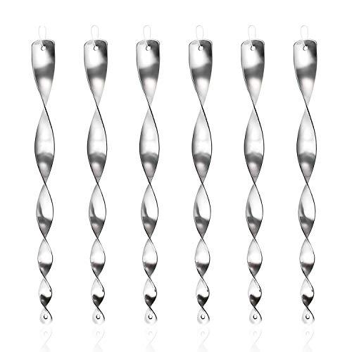 Ulikey Reflektierende Vogelschreck - 6er Set Reflektierende Windspirale, Vogelschreck zur Vogelabwehr Abwehr von Vögeln Dekoration für Balkon und Garten