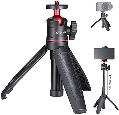 Mini trípode MT-08, trípode de mesa, Selfie Stick trípode para iPhone 11 Pro Max Samsung OnePlus Google Smartphone Canon G7X Mark III Sony RX100 VII A6400 A6600 Cámaras Vlogging