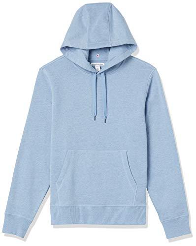 Amazon Essentials Fleece Pullover Hooded Sweatshirt Sudadera, Azul Claro Mezcla, XL
