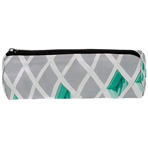 TIZORAX groen en grijs behang potlood Case Pen Rits Bag Coin Organizer make-up kostbare tas voor vrouwen tiener meisjes jongens kinderen