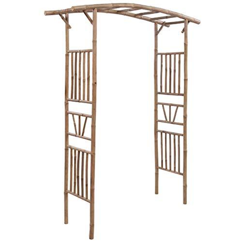 UnfadeMemory Arco Enrejado de Jardin,Pérgola de Jardin,Bambú 145x40x187cm