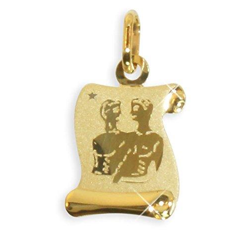 Sternzeichen Anhänger Zwilling 14 Karat Gold 585 (213303) Gratis Express Gravur