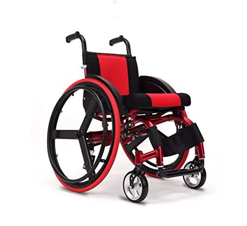 Lonve Aluminium Motion Rollstuhl, leichte klappbare Portable Transit reisestuhl hinterrad dämpfung Wagen