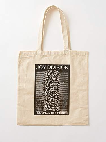 Unknown Pleasures Cool Art 80S 1980S Vintage Joy Retro Álbum Division | Bolsas de lona con asas, de algodón...