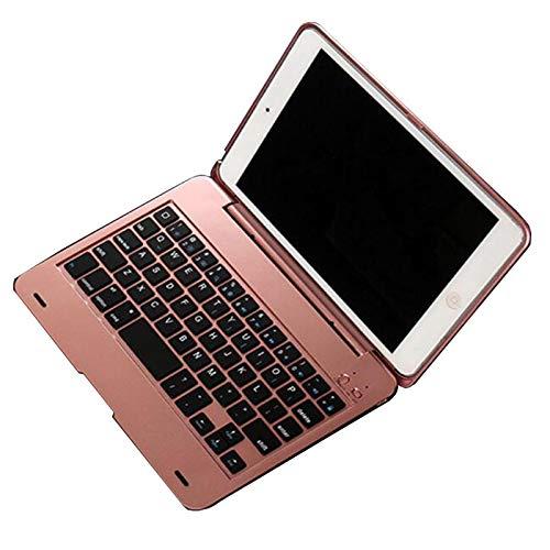 RZL Pad y Tab Fundas para el Mini Teclado del iPad, la Caja del Soporte del Teclado inalámbrico Bluetooth para iPad Mini 2 Mini 3 Case con el Teclado (Color : Rose Golden)