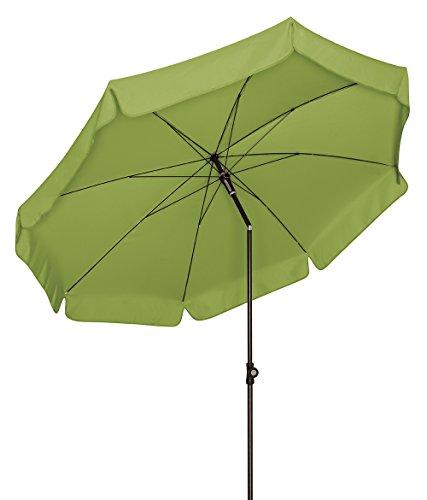 Doppler Absolut wetterfester Gartenschirm Sunline 200 Fresh Green, UV-Schutz 50 Plus und Knicker,