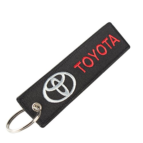 golden tai keychain Double Sided embroidery Moto Loot KeyChain for Motorcycles, Scooters, Cars and Gifts (toyota)