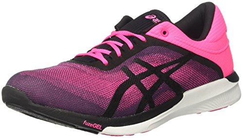 Asics ASICS Damen Fuzex Rush Laufschuhe, Pink (Hot Pink/Black/White), 39 EU
