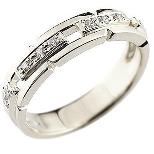 [アトラス]Atrus リング レディース pt950 ハードプラチナ950 ダイヤモンド 幅広 指輪 ピンキーリング ストレート 21号