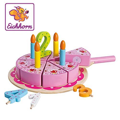 Eichhorn - 100003729 - Jouet gâteau en Bois - 18 pièces