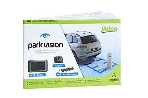 VALEO-E5DC4C-parkvision-Einparkhilfe-mit-Kamera-und-TFT-Display-inklusive-4-lackierbare-Sensoren-zum-Heckeinbau-Artikelnr-632210-Schwarz