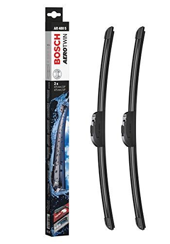 Bosch Balais d'Essuie - Glace Plats Aerotwin Retrofit AR480S, Longueur : 475mm/475mm – 1 Paire de Balais avant
